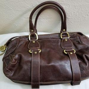 Francesco Biasia brown leather bag.